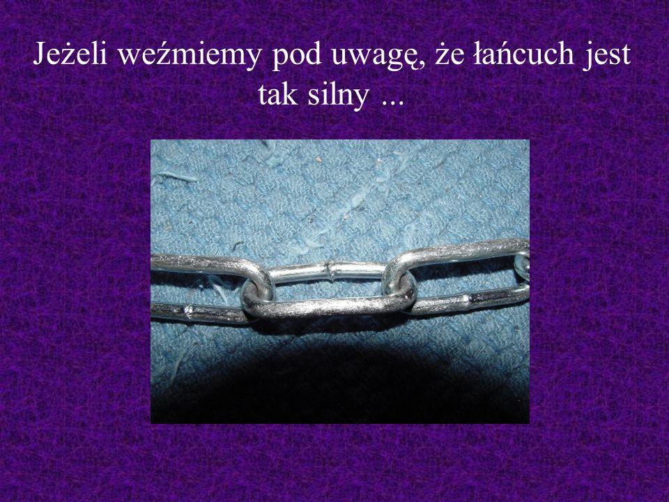 Jeżeli weźmiemy pod uwagę, że łańcuch jest tak silny ...