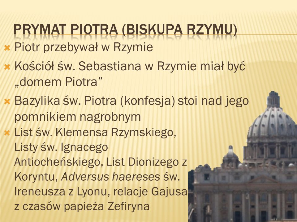 Prymat Piotra (Biskupa Rzymu)