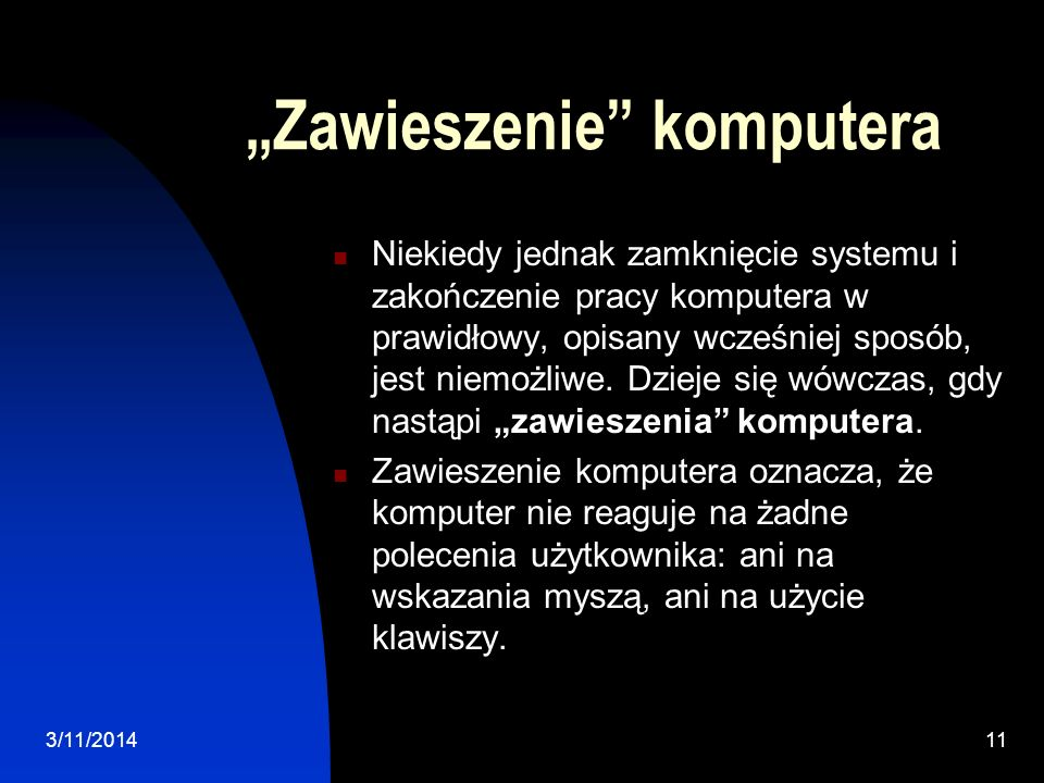 """""""Zawieszenie komputera"""