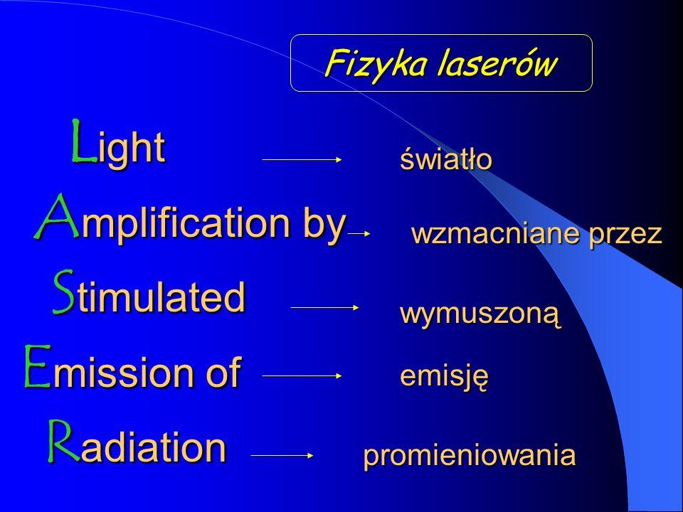Light Amplification by Stimulated Emission of Radiation Fizyka laserów