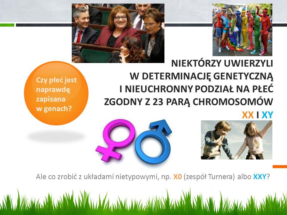 Niektórzy Uwierzyli w Determinację genetyczną i Nieuchronny podział na Płeć zgodny z 23 parą chromosomów XX i XY