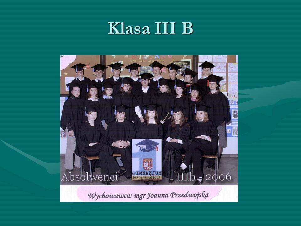 Klasa III B