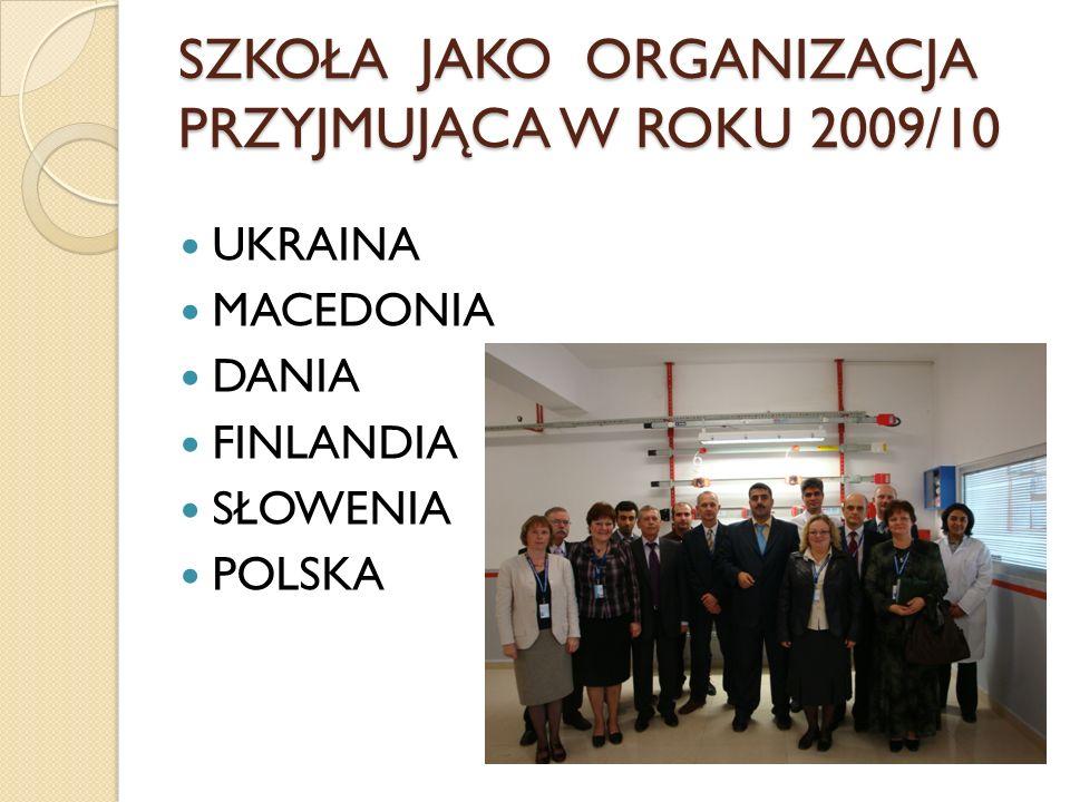 SZKOŁA JAKO ORGANIZACJA PRZYJMUJĄCA W ROKU 2009/10