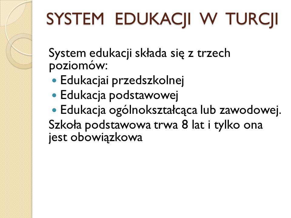 SYSTEM EDUKACJI W TURCJI