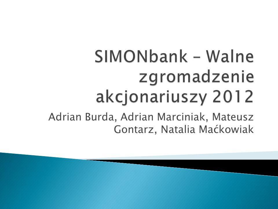 SIMONbank – Walne zgromadzenie akcjonariuszy 2012
