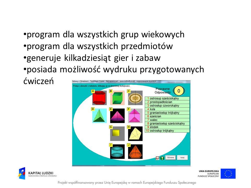program dla wszystkich grup wiekowych