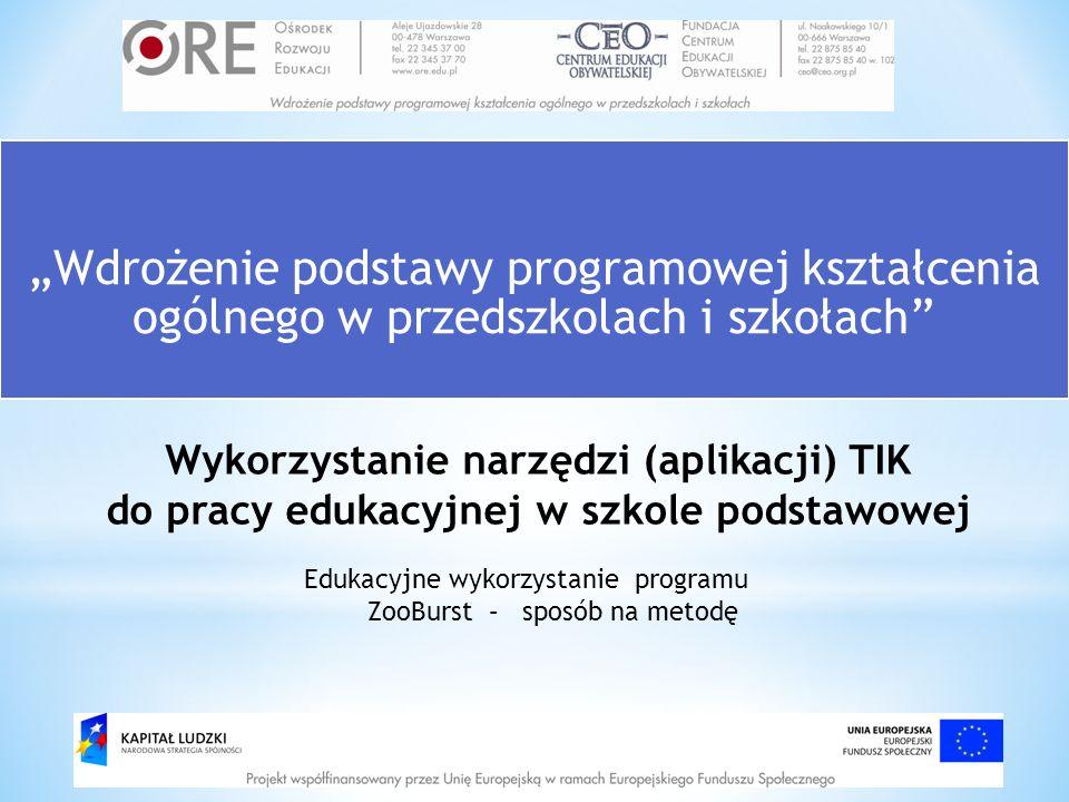 """""""Wdrożenie podstawy programowej kształcenia ogólnego w przedszkolach i szkołach"""