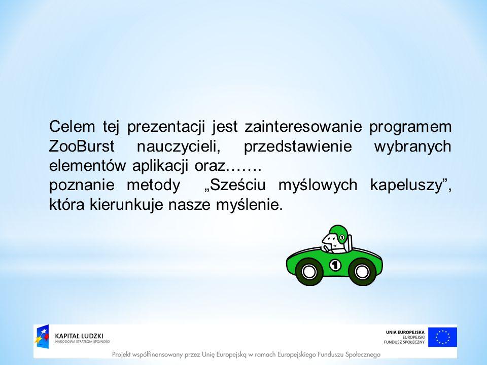 Celem tej prezentacji jest zainteresowanie programem ZooBurst nauczycieli, przedstawienie wybranych elementów aplikacji oraz…….