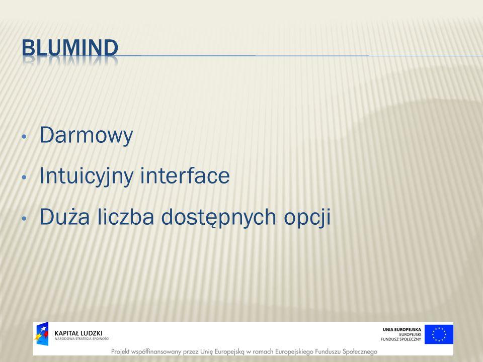 BLUMind Darmowy Intuicyjny interface Duża liczba dostępnych opcji