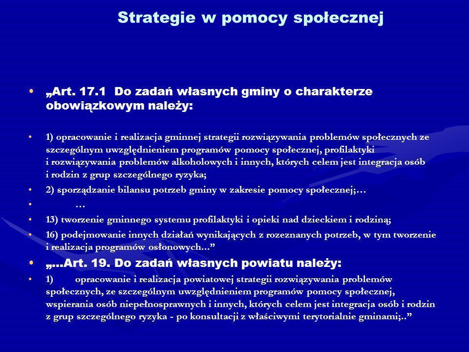 Strategie w pomocy społecznej