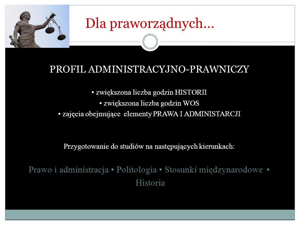 Dla praworządnych… PROFIL ADMINISTRACYJNO-PRAWNICZY