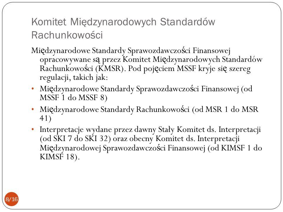 Komitet Międzynarodowych Standardów Rachunkowości
