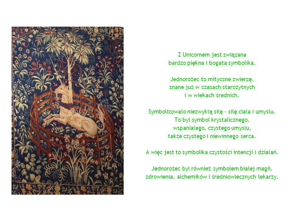 Z Unicornem jest związana bardzo piękna i bogata symbolika.