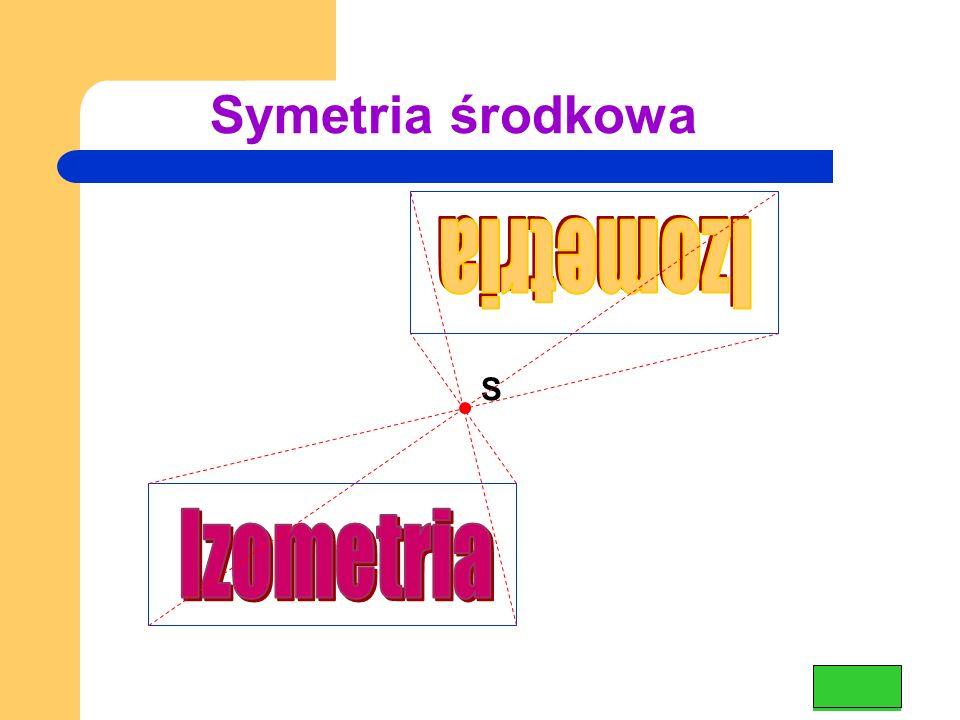 Symetria środkowa Izometria S Izometria