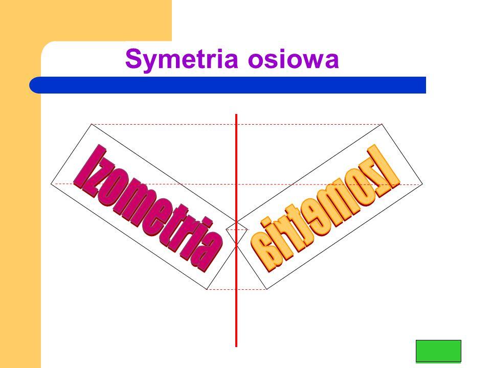 Symetria osiowa Izometria Izometria
