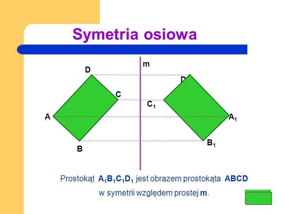 Symetria osiowa m D D1 C C1 A A1 B1 B