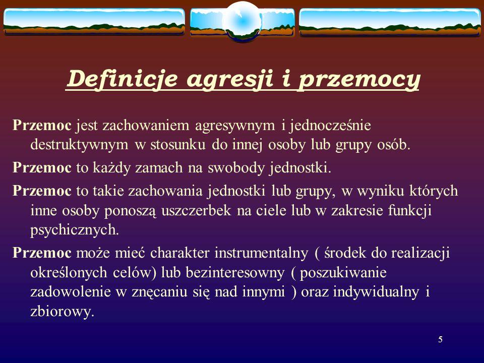 Definicje agresji i przemocy