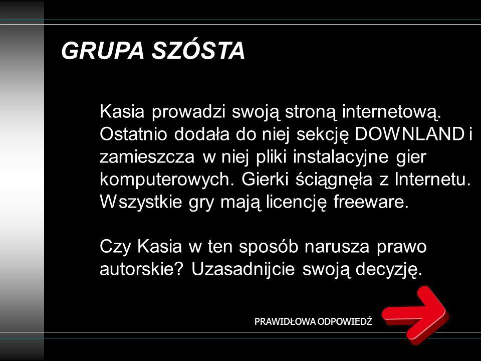 GRUPA SZÓSTA