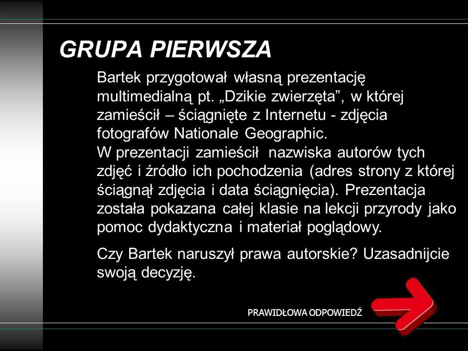 GRUPA PIERWSZA
