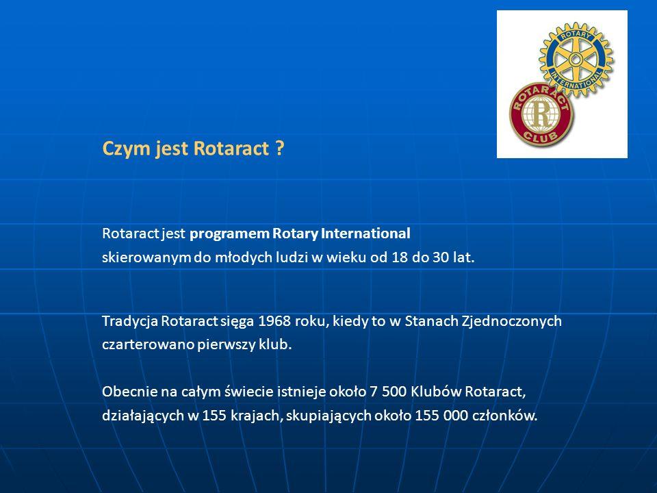 Czym jest Rotaract Rotaract jest programem Rotary International skierowanym do młodych ludzi w wieku od 18 do 30 lat.