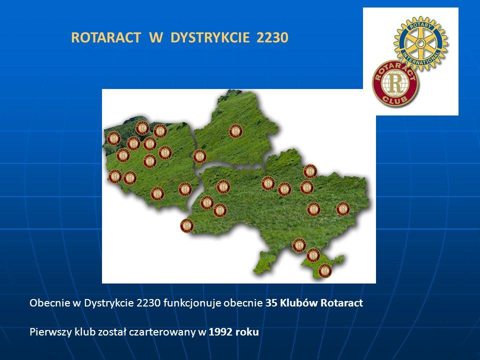 ROTARACT W DYSTRYKCIE 2230 Obecnie w Dystrykcie 2230 funkcjonuje obecnie 35 Klubów Rotaract.