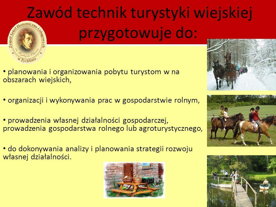 Zawód technik turystyki wiejskiej przygotowuje do: