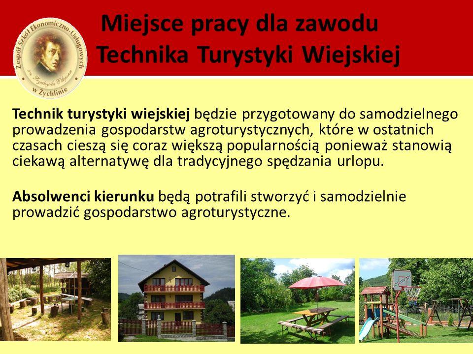 Miejsce pracy dla zawodu Technika Turystyki Wiejskiej
