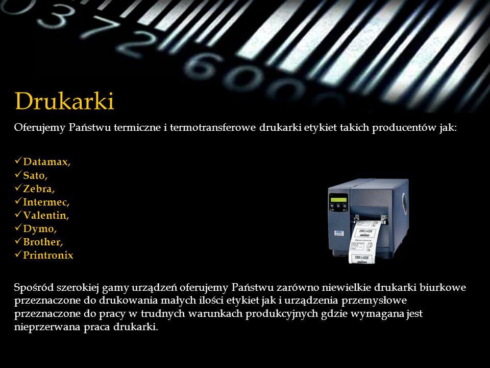 Drukarki Oferujemy Państwu termiczne i termotransferowe drukarki etykiet takich producentów jak: Datamax,