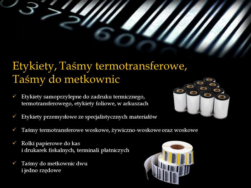 Etykiety, Taśmy termotransferowe, Taśmy do metkownic
