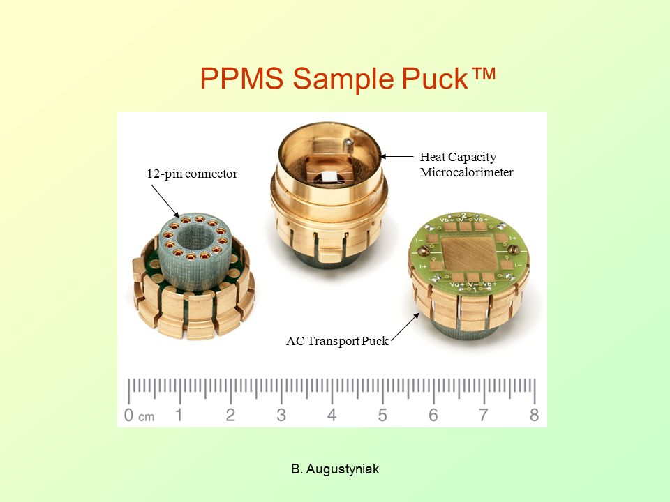 PPMS Sample Puck™ Heat Capacity Microcalorimeter 12-pin connector