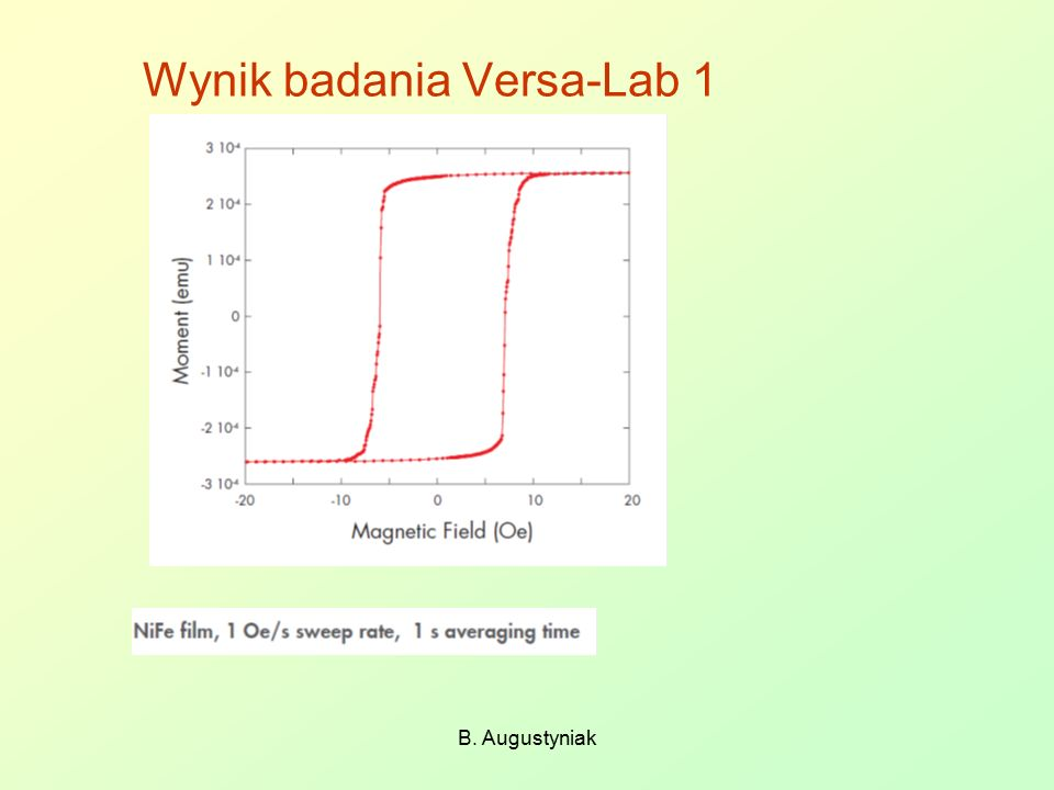 Wynik badania Versa-Lab 1