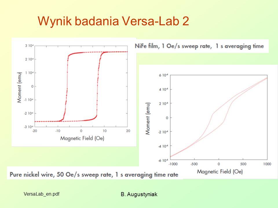 Wynik badania Versa-Lab 2