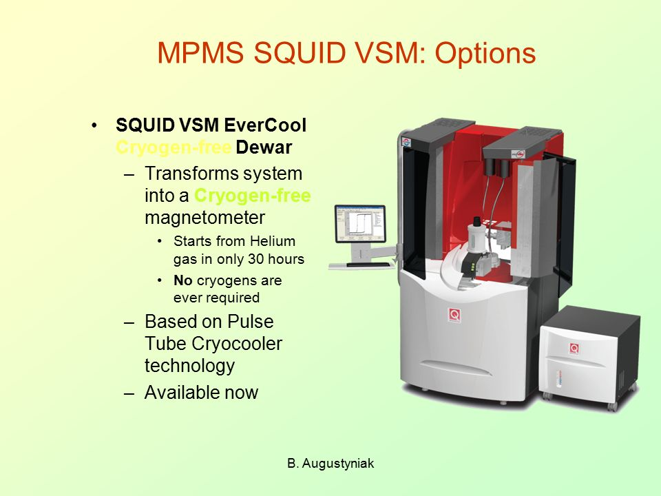 MPMS SQUID VSM: Options