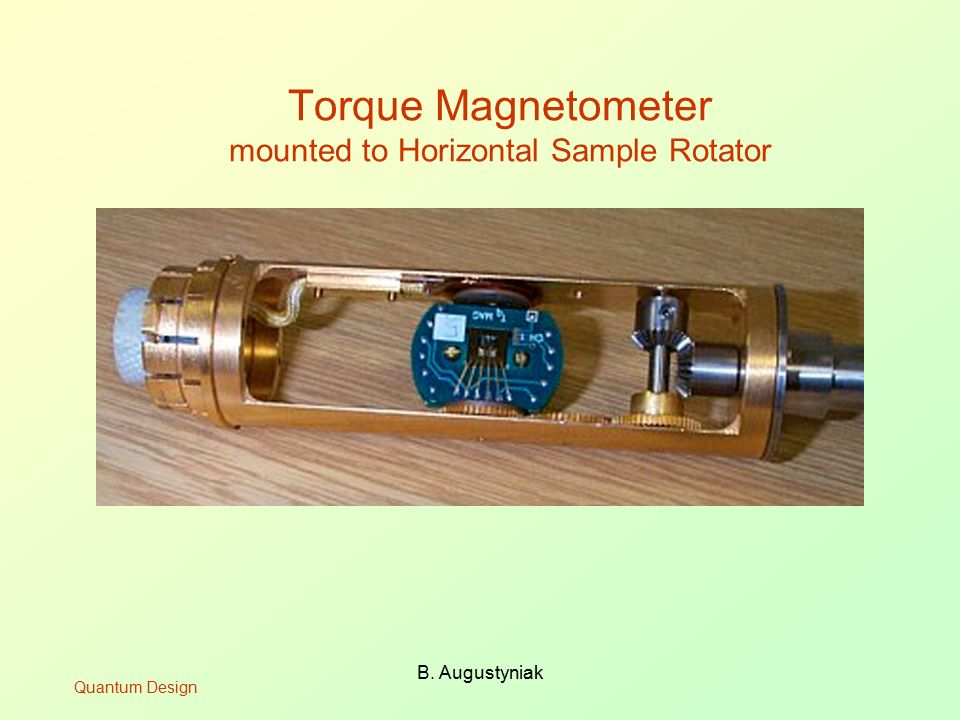 Torque Magnetometer mounted to Horizontal Sample Rotator