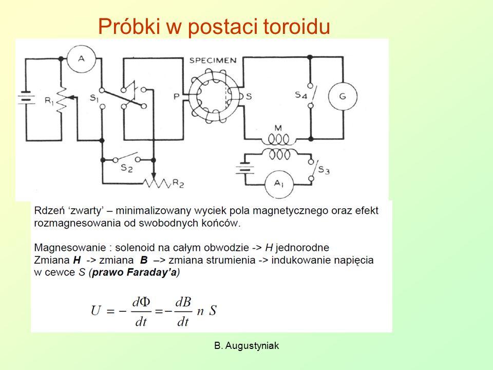 Próbki w postaci toroidu
