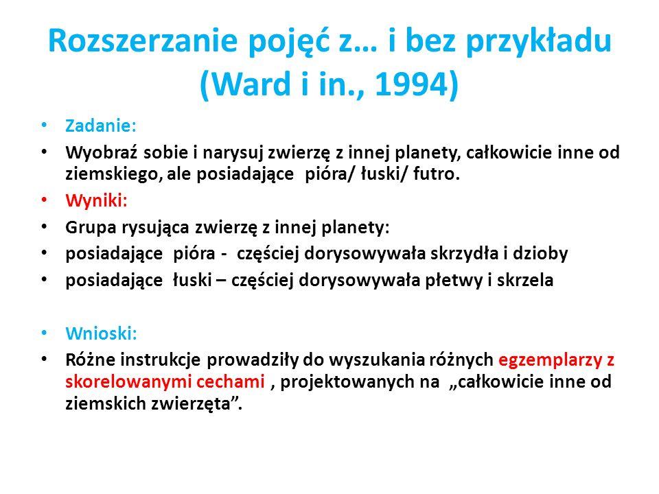 Rozszerzanie pojęć z… i bez przykładu (Ward i in., 1994)