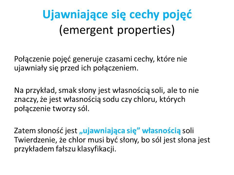 Ujawniające się cechy pojęć (emergent properties)