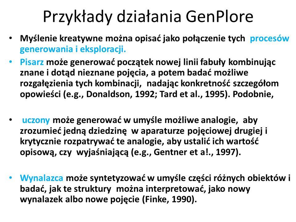 Przykłady działania GenPlore