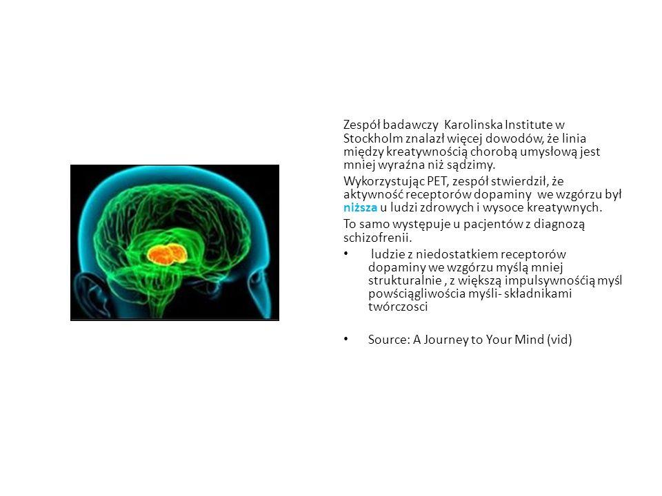 Zespół badawczy Karolinska Institute w Stockholm znalazł więcej dowodów, że linia między kreatywnością chorobą umysłową jest mniej wyraźna niż sądzimy.