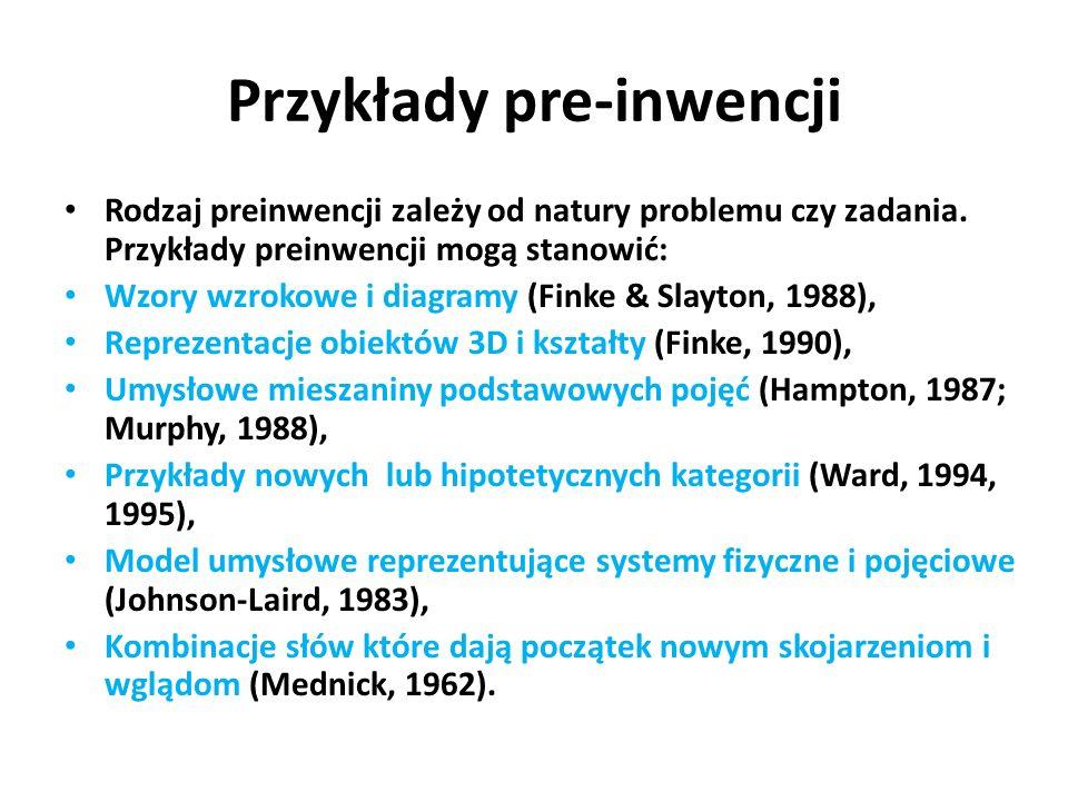 Przykłady pre-inwencji
