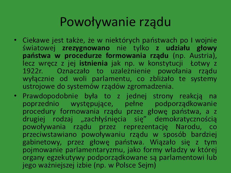Powoływanie rządu