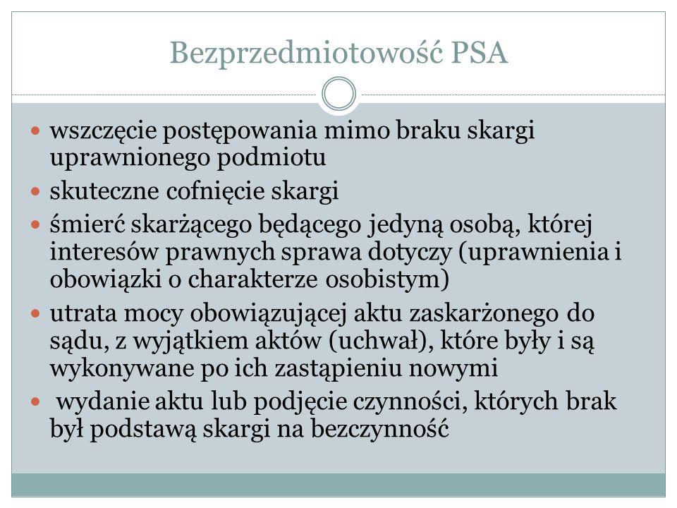 Bezprzedmiotowość PSA