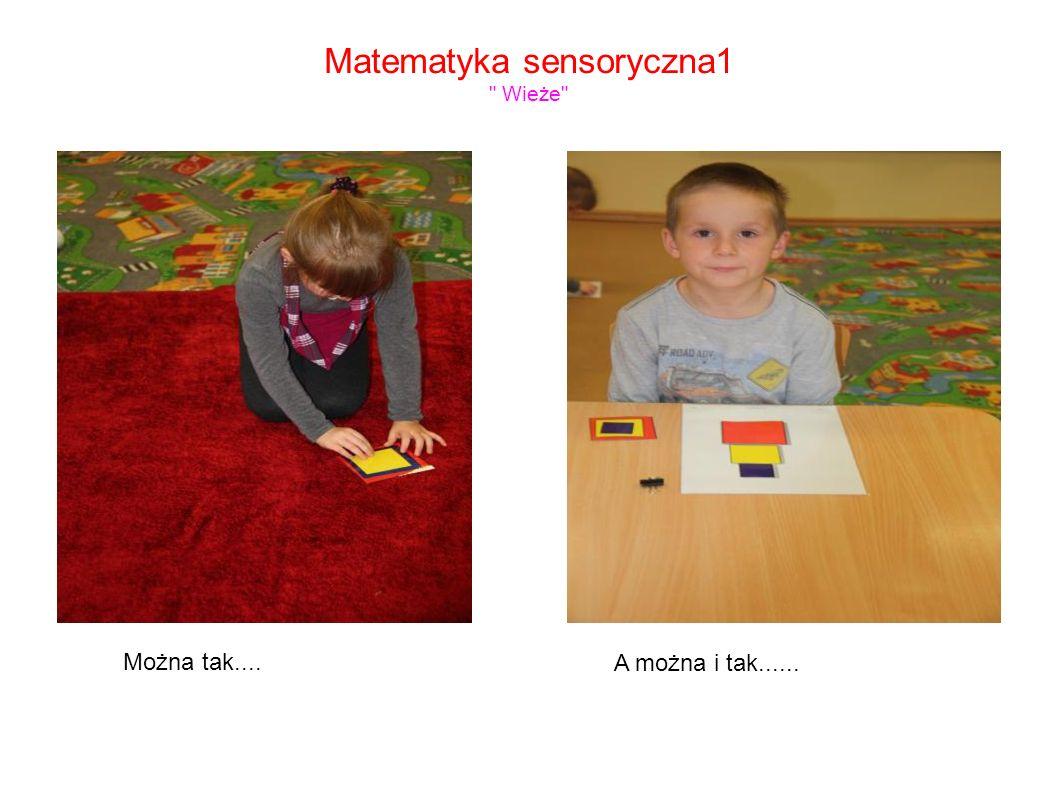 Matematyka sensoryczna1 Wieże