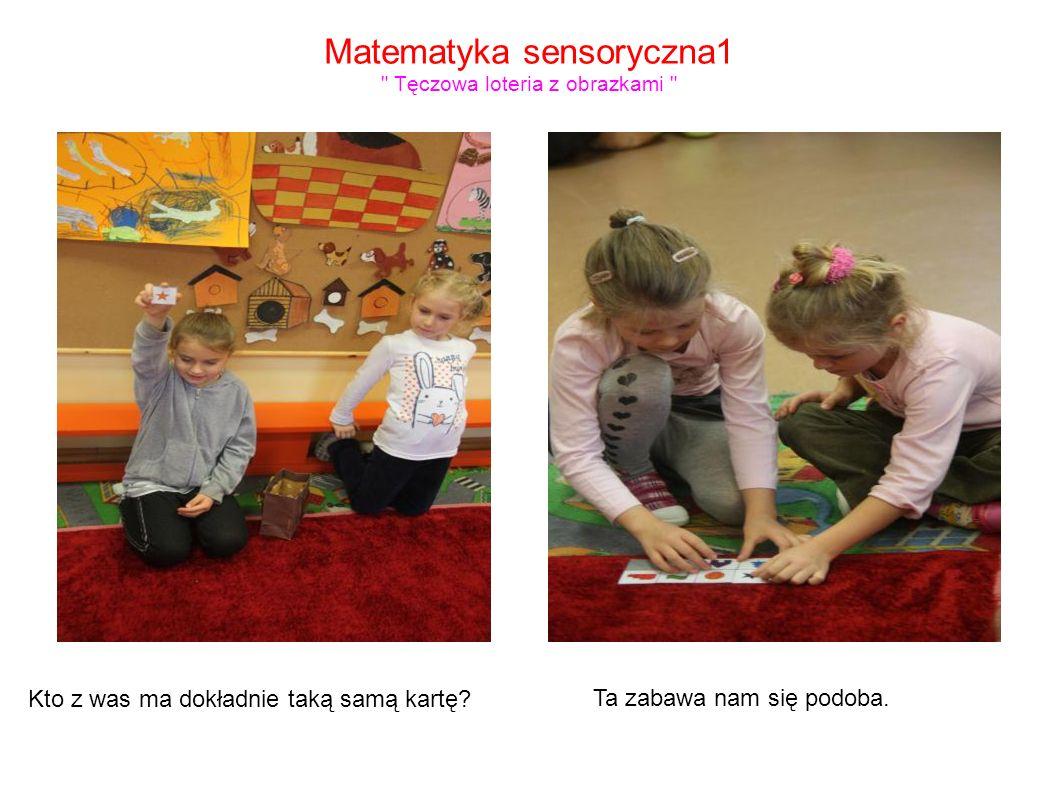 Matematyka sensoryczna1 Tęczowa loteria z obrazkami