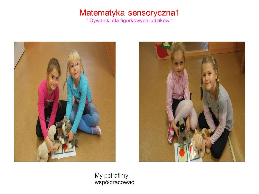 Matematyka sensoryczna1 Dywaniki dla figurkowych ludzików