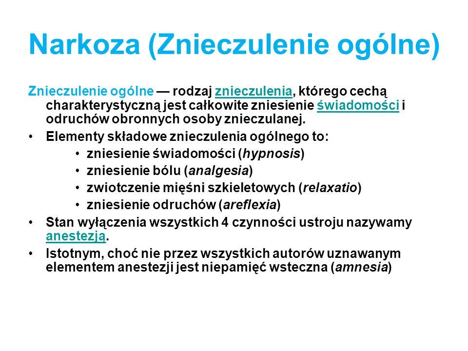 Narkoza (Znieczulenie ogólne)