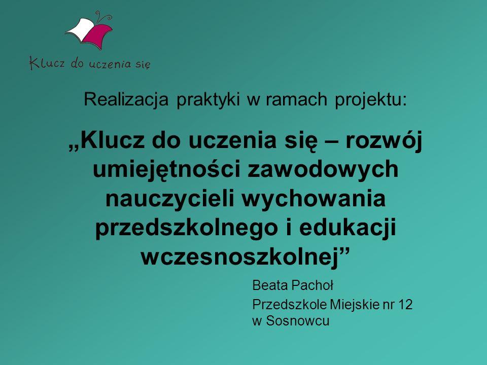 Beata Pachoł Przedszkole Miejskie nr 12 w Sosnowcu