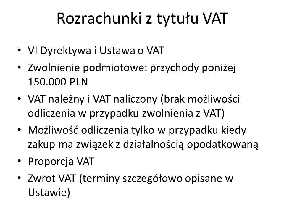 Rozrachunki z tytułu VAT