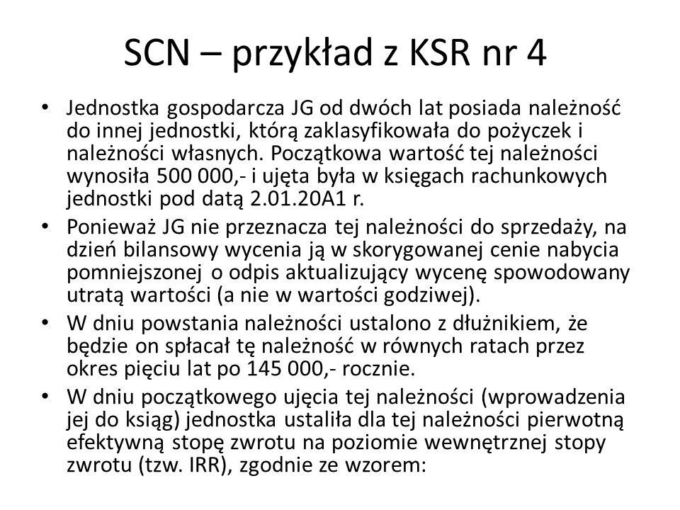 SCN – przykład z KSR nr 4