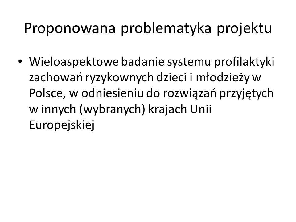 Proponowana problematyka projektu